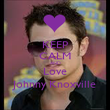 KEEP CALM AND Love Johnny Knoxville - Personalised Poster large