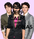 KEEP CALM AND Love JONAS  - Personalised Poster large