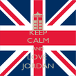 KEEP CALM AND LOVE  JORDAN - Personalised Poster large