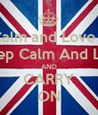 KEEP Calm and Love Jordan CALM Keep Calm And Love Abby AND CARRY ON - Personalised Poster large