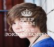 KEEP CALM AND LOVE JORDAN JANSEN - Personalised Poster large