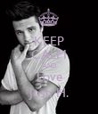 KEEP CALM AND Love Josh H. - Personalised Poster large