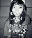 KEEP CALM AND LOVE  Joylane  - Personalised Poster large