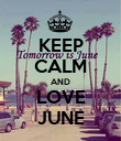 KEEP CALM AND LOVE JUNE - Personalised Poster large