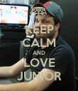 KEEP CALM AND LOVE JUNIOR - Personalised Poster large