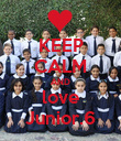KEEP CALM AND love Junior.6 - Personalised Poster large