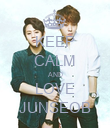 KEEP CALM AND LOVE JUNSEOB - Personalised Poster large