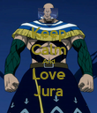 Keep Calm And Love Jura - Personalised Poster large
