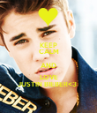 KEEP CALM AND LOVE JUSTIN BIEBER<3   - Personalised Poster large