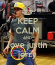 KEEP CALM AND love justin jerry - Personalised Poster large