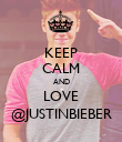 KEEP CALM AND LOVE @JUSTINBIEBER - Personalised Poster large
