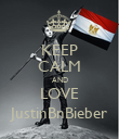 KEEP CALM AND LOVE JustinBnBieber - Personalised Poster large