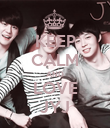 KEEP CALM AND LOVE JYJ - Personalised Poster large