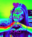 KEEP CALM AND LOVE KALI - Personalised Poster large