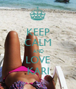 KEEP CALM AND LOVE KARI - Personalised Large Wall Decal