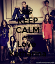 KEEP CALM AND Love  Katharina - Personalised Poster large