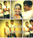 KEEP CALM AND Love Kathniel - Personalised Poster large