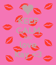 KEEP CALM AND love Kay <3 - Personalised Poster large