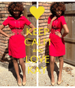 KEEP CALM AND LOVE KAY - Personalised Poster large