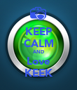 KEEP CALM AND Love KEEK - Personalised Poster large