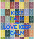 KEEP CALM AND LOVE KEEP CALM - Personalised Poster large