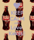 KEEP CALM AND Love  Kekss♥ - Personalised Poster large