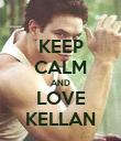 KEEP CALM AND LOVE KELLAN - Personalised Poster large