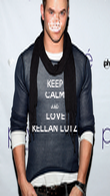 KEEP CALM AND LOVE KELLAN LUTZ  - Personalised Poster large