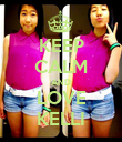 KEEP CALM AND LOVE KELLI - Personalised Poster large