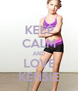 KEEP CALM AND LOVE KENSIE - Personalised Large Wall Decal