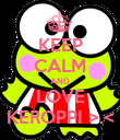 KEEP CALM AND LOVE KEROPPI >.< - Personalised Poster small
