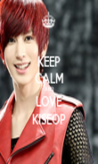 KEEP CALM AND LOVE KISEOP - Personalised Poster large