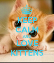 KEEP CALM AND LOVE KITTENS - Personalised Poster large