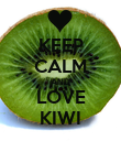 KEEP CALM AND LOVE KIWI - Personalised Poster large