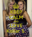 KEEP CALM AND LOVE Kollar S. - Personalised Poster large