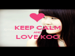 KEEP CALM AND LOVE KOO  - Personalised Poster large