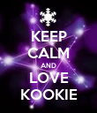 KEEP CALM AND LOVE KOOKIE - Personalised Poster large