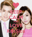 KEEP CALM AND LOVE KrisSica - Personalised Poster large
