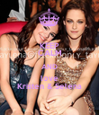 KEEP CALM AND love Kristen & Selena - Personalised Poster large