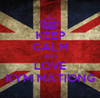 KEEP CALM AND LOVE KYM MATIONG - Personalised Poster large
