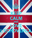 KEEP CALM AND LOVE L'ECHOVERGA - Personalised Poster large