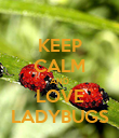 KEEP CALM AND LOVE LADYBUGS - Personalised Poster large