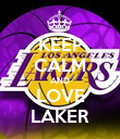 KEEP CALM AND LOVE LAKER - Personalised Poster large