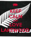 KEEP CALM AND LOVE LAKEWOOD  - Personalised Poster large
