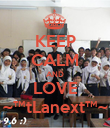 KEEP CALM AND LOVE ~™†Lanex†™~ - Personalised Poster small
