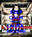 KEEP CALM AND LOVE  LAURA  PAUSINI - Personalised Poster large