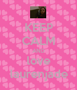 KEEP CALM AND love laurenjade - Personalised Poster large