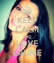 KEEP CALM AND LOVE LAURIE - Personalised Poster large
