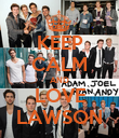 KEEP CALM AND LOVE LAWSON - Personalised Poster large