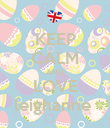 KEEP CALM AND LOVE leighanne  - Personalised Poster large